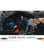 Clear Road Ahead, Monmouth Castle. Card from National Railway Museum poster