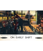On Early Shift. Card from a National Railway Museum poster
