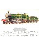 Express Passenger Locomotive No 190 Railway poster card