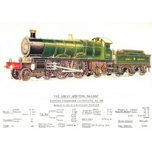Express Passenger Locomotive No 190 Railway poster card