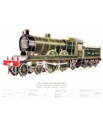 Express Passenger Locomotive No 730 Card from National Railway Museum poster