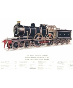 Express Passenger locomotive No 1853 Card from a National Railway Museum poster
