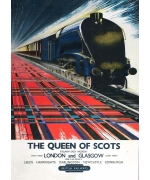 The Queen of Scots, card from a National Railway Museum poster