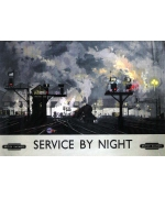 Service by Night. Card from a National Railway Museum poster
