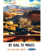 By Rail To Wales. Railway poster card