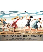The Yorkshire Coast. Railway poster card.