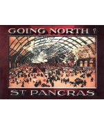 St Pancras Station. Railway poster card