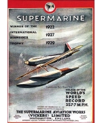 Supermarine. Card from Schneider Trophy poster