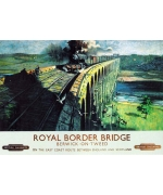Royal Border Bridge, Berwick on Tweed. card from a National Railway Museum poster