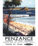 Penzance, card from a National Railway Museum poster